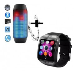 Pack enceinte a led personalisable bluetooth + montre connectee