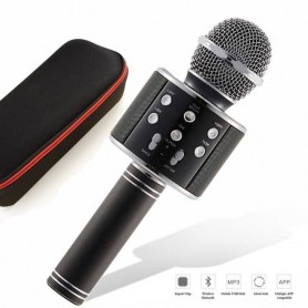 Microphone Bluetooth Sans Fil Portable Haut-parleur KTV Karaoké pour iOS iPhone Android Smartphone PC Tablette