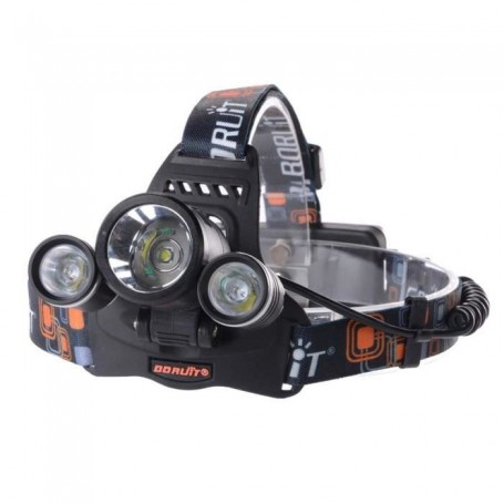 Lampe Frontale Phare 6000Lm 3x CREE XM-L T6 LED
