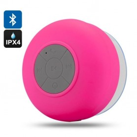 Enceinte Bluetooth Waterproof Ventouse Appels mains libres -Rose