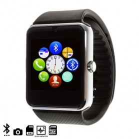 Lot de 2 montre connectée bluetooth ou carte sim GT08- Argent
