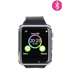 Montre connectee bluetooth ou carte sim-Argenté Noir