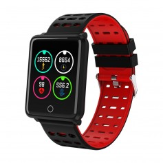 Montre connectée sport , bracelet intelligent B4 pour Iphone et Android-Rouge