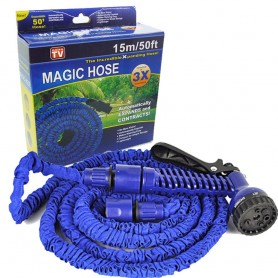 Tuyau d'arrosage extensible magic hose+ Pistolet 7 jets- 15m/50FT