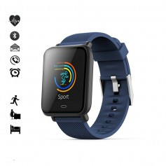 Bracelet connecté Bluetooth - compatible iOS et Android - bleu