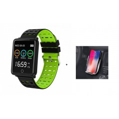 Pack Support a induction + Montre connectée Verte