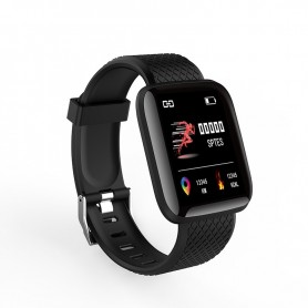Montre connectee sport , Bracelet connectee bluetooth Tracker Fitness-Noir