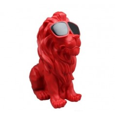 Enceinte bluetooth sans fil KING Motif lion 5W-Rouge