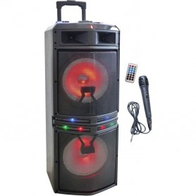 Enceinte Karaoke Trolley - Bluetooth -1000W