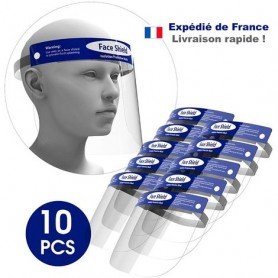 Lot de 10 Visiere de Protection Transparente Anti-Buée