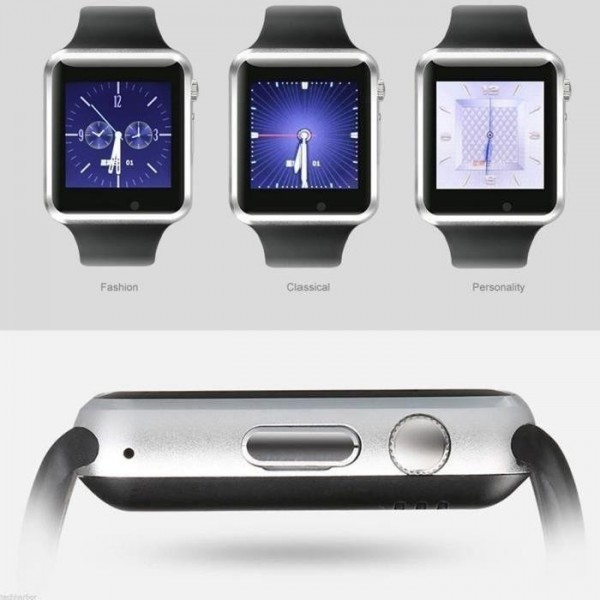 smartwatch cam ra sim slot noir pour android ios smartphone catalogue produits. Black Bedroom Furniture Sets. Home Design Ideas