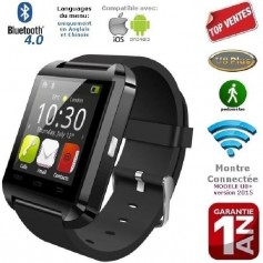Montre connectée U8+ noir Bluetooth iPhone,Samsung